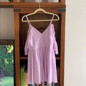 Drop-shoulder Mini Dress